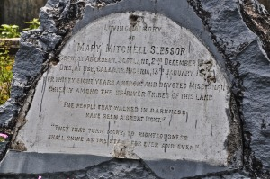 Mary Slessor's tombstone