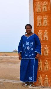 Martine de Souza at Door of No Return