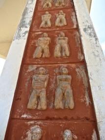 bas-relief of slaves