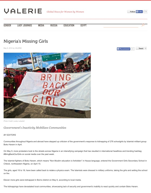 Nigeria's Missing Girls | VALERIE-001