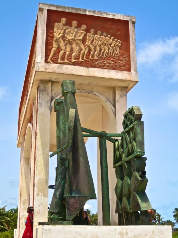 Statues called 'Revenants' guard the Door of No Return, Republic of Benin.