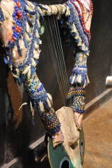 tanbura lyre with beads and tassels