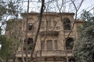 1914 Villa Yousef Pasha Soloman,on Sharia Azim el-Dawla, from Turkish meaning 'the best in the world'. Architect:Italian Giuseppe Tavareli.This villa looks like it may be demolished. '