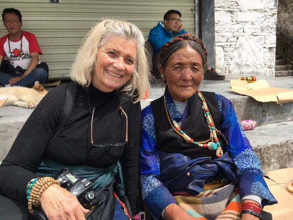 Me and a Tibetan woman resting