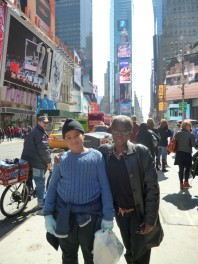 Olatoun and son, Damilare at Times Square, NYC