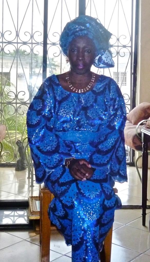 Olatoun, a real Yoruba woman off to a wedding (1)
